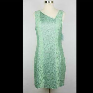 JESSICA SIMPSON Green sequin lace sleeveless dress